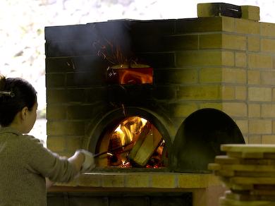 レンガのオーブン