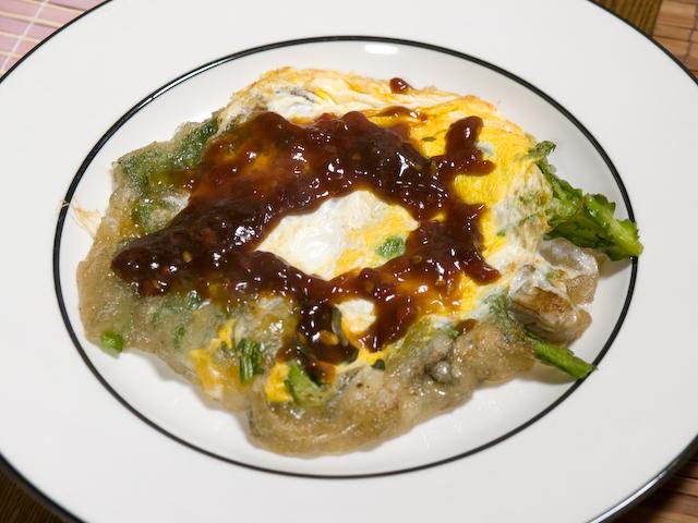蚵仔煎(オアジェン) 台湾風牡蠣のお好み焼き