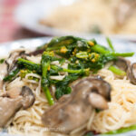 牡蠣と菜の花のパスタ