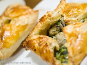 牡蠣とほうれん草のパイ