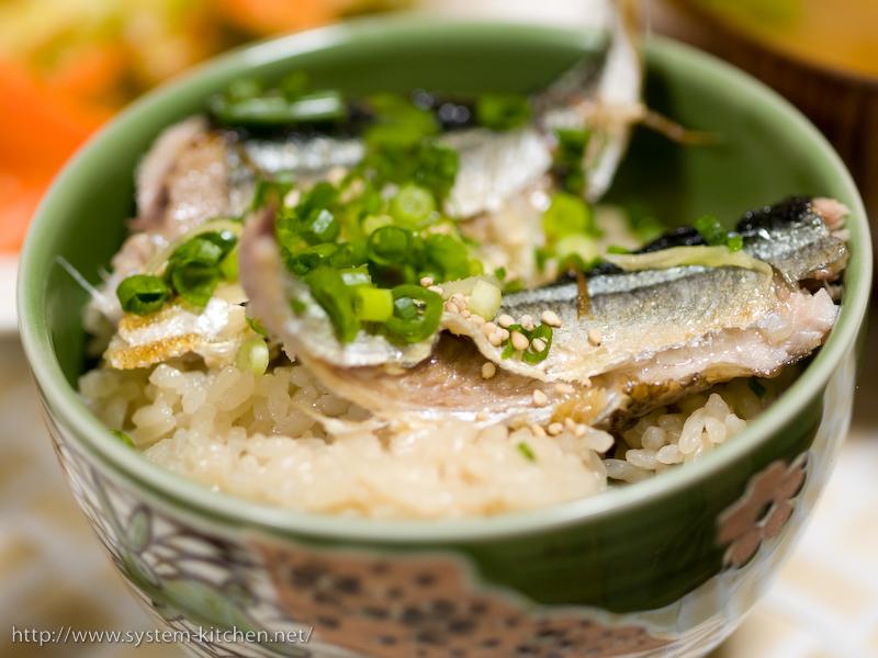 焼き秋刀魚の炊き込み御飯