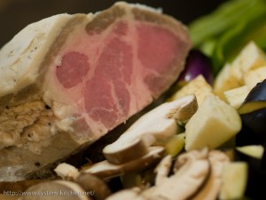 豚肩肉のコンフィ