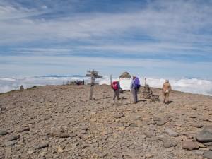 硫黄岳の山頂