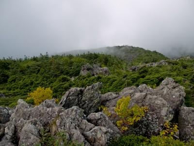 雨の天狗岳
