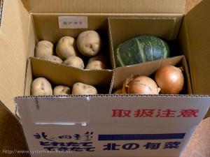 北の大地から野菜の詰め合わせが